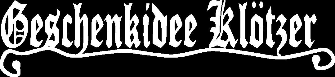Geschenkidee Klötzer